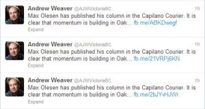 Pretty difficult to miss this tweet from Weaver!