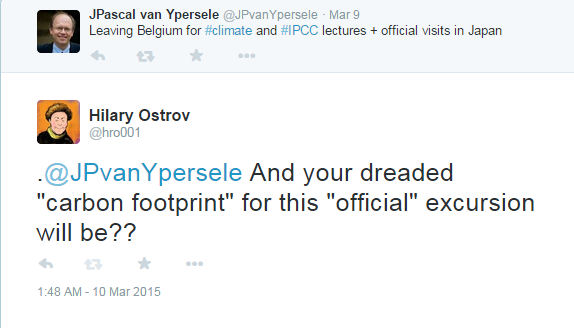 """Jean-Pascal van Ypersele demonstrates his idea of """"communicating"""" with the public"""