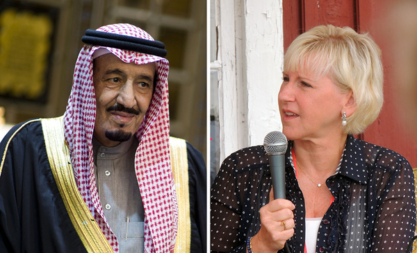 Swedish Foreign Minister Margot Wallström wanted to lecture the Arab League on human rights. Saudi Arabia's King Salman was not amused. (Image source: Wikimedia Commons) via Gatestone