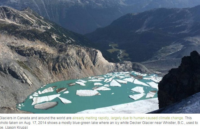 "Note the hyper-alarmism in caption: ""already melting rapidly due to human caused climate change"""