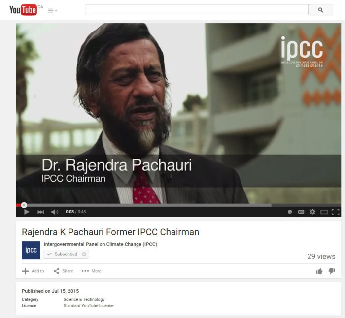 Current or former chair? Consistency is not an IPCC product! Video at: https://www.youtube.com/watch?v=KA3peO3Myo8